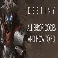 Destiny Error Code Anteater