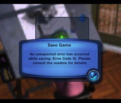 Fix Sims 3 Error Code 12