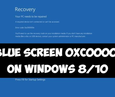 Fix Windows Error Code 0xc000000e