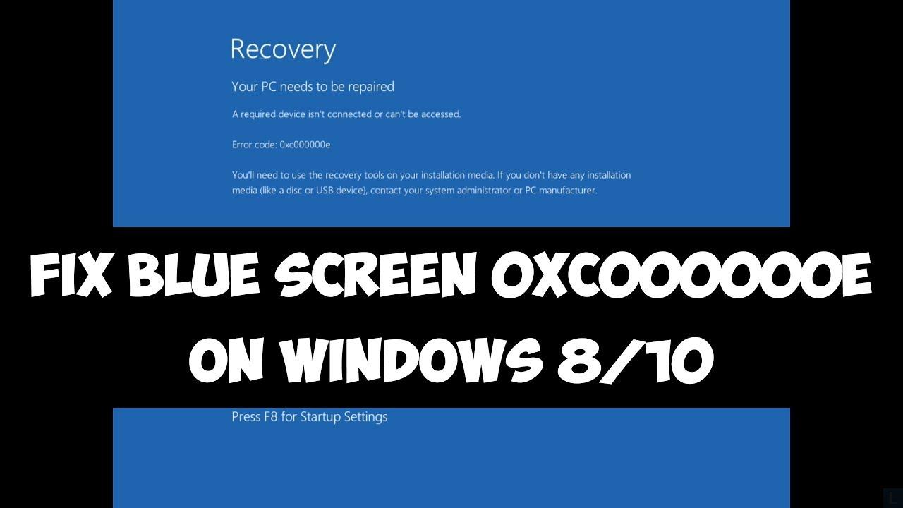 Fix Windows Error Code 0xc000000e