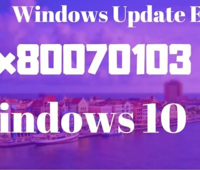Windows Update Error 80070103