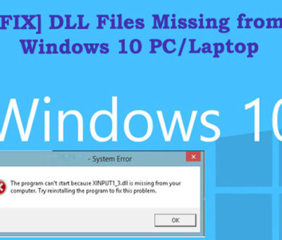 Fix DLL Files Errors on Windows 10/8/7 PC