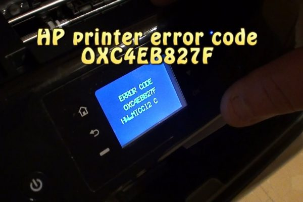 HP Envy Printer 4500 Error Code Oxc4eb827f