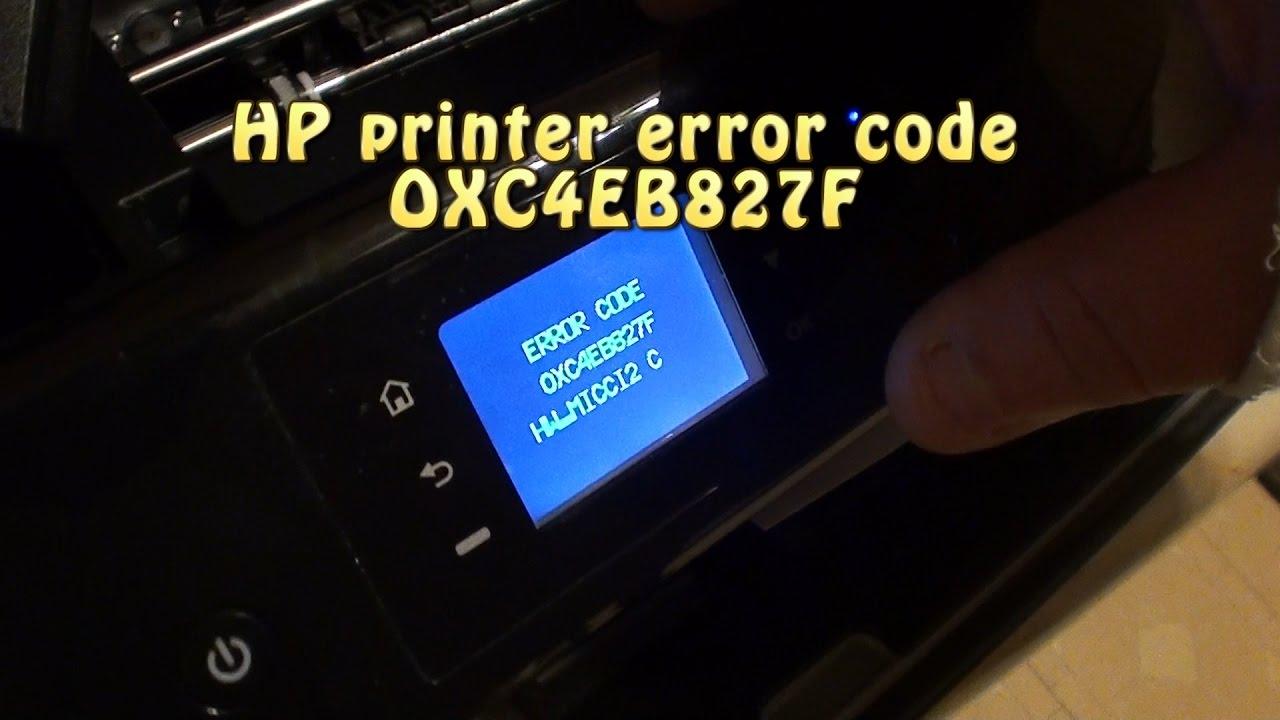 HP Envy Printer 4500 Error Code Oxc4eb827f
