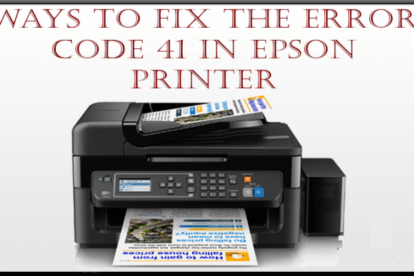 Epson Printer Not Activated Error Code 41