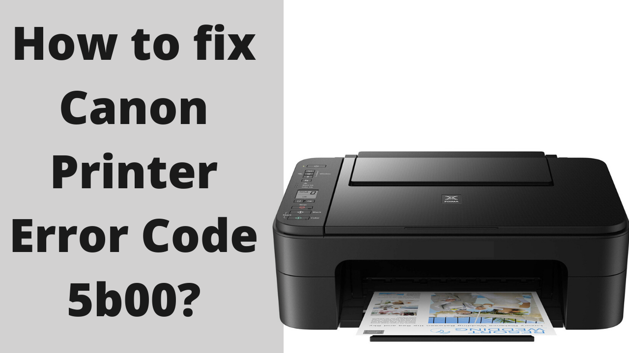 Canon Printer Error 5b00