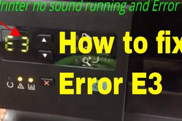 Hp Printer Error Code E3